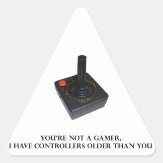 Du är inte en gamer. triangelformat klistermärke