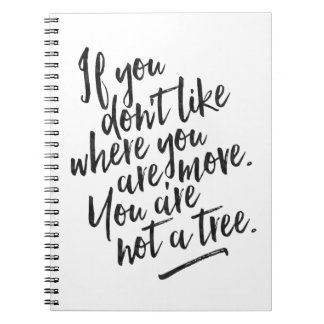 Du är inte ett träd - inspirera journal anteckningsbok med spiral