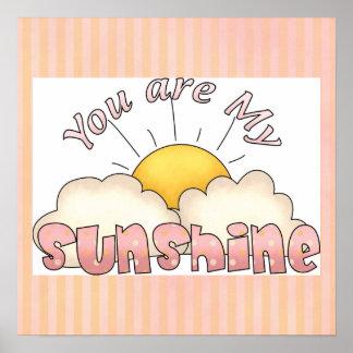 Du är min affisch för trycket för solskenflickakon poster