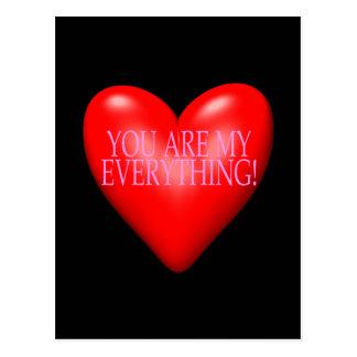 Du är min allt vykort