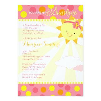 Du är min solskenbaby showerinbjudningar - flicka 12,7 x 17,8 cm inbjudningskort