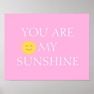 Du är min solskenflickaFrameable affisch Poster