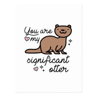 Du är min viktiga utter vykort
