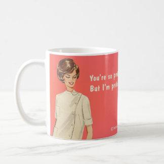 Du är nätt, den mer nätt I-förmiddagen Kaffe Kopp