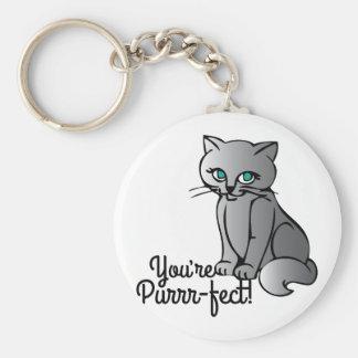 Du är Purrr-fect Rund Nyckelring