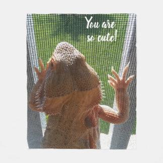 Du är så det gulliga skäggiga drakefototrycket fleecefilt