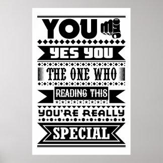Du är speciell (det Motivational citationstecknet) Poster