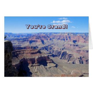 Du är storslagen! , Grand Canyonfödelsedagkort Hälsningskort