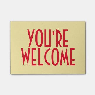 Du är välkomnandet Postar-it® noterar Post-it Lappar