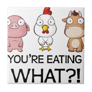Du äter vad?! - Du äter vad?! - Djur Kakelplatta