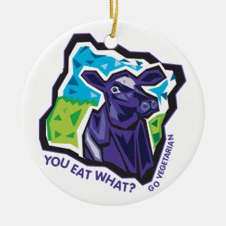 Du äter vad? Ko Julgransprydnad Keramik