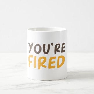 Du avfyras kaffemugg