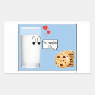 Du avslutar mig mjölk och kakor rektangulärt klistermärke