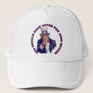 Du bör ha röstat för John McCain Truckerkeps