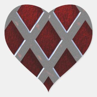 Du fångade min hjärta hjärtformat klistermärke