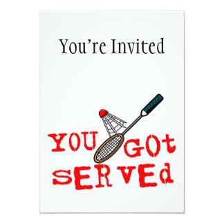 Du fick tjänad som Badminton 12,7 X 17,8 Cm Inbjudningskort