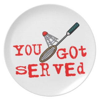 Du fick tjänad som Badminton Tallrik