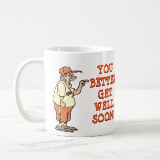 Du förbättrar får väl snart! kaffemugg