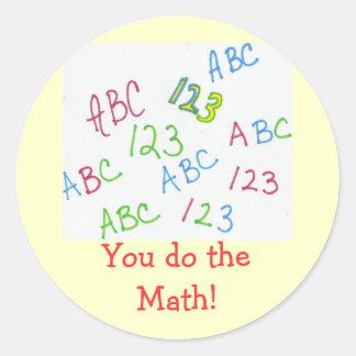 Du gör mathen! runt klistermärke
