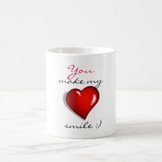 Du gör min hjärta att le kaffemugg