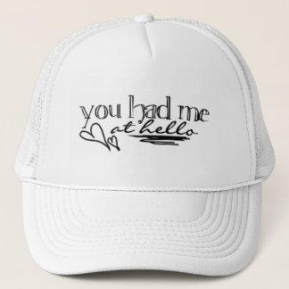 Du hade mig på hejer - hatt truckerkeps