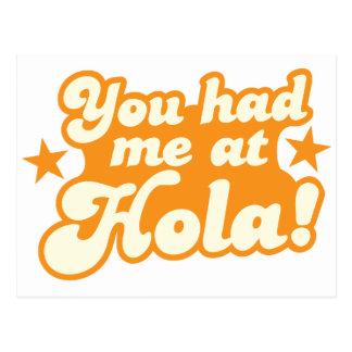 Du hade mig på mexicanska spanska hälsninghejer vykort