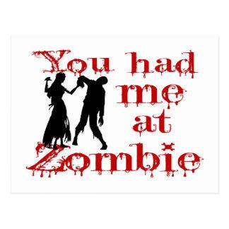 Du hade mig på zombien vykort