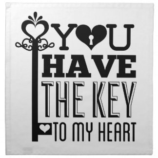 Du har nyckeln till min hjärta tygservett