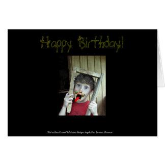 Du har varit det inramade födelsedagkortet hälsningskort