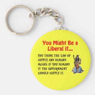 Du kan är en liberal om… rund nyckelring