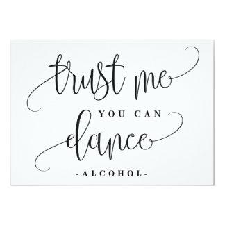 Du kan dansa alkohol undertecknar - älskvärd 12,7 x 17,8 cm inbjudningskort