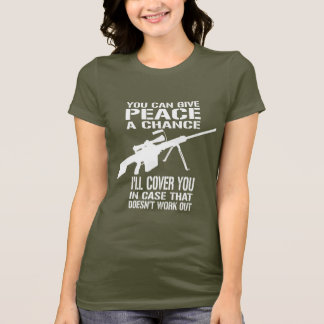 Du kan ge fred en riskera… t shirts