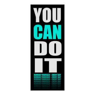 Du KAN göra det (aqua) som är motivational Poster