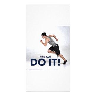 Du kan göra det! - Hälsningkort/Motivational kort Fotokort