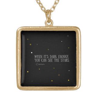 Du kan se det stjärnaEmerson citationstecknet Guldpläterat Halsband