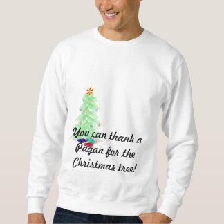 Du kan tacka en Pagan för julgranen Långärmad Tröja