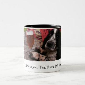 Du klibbar till din Tea, denna är MIN öl Två-Tonad Mugg
