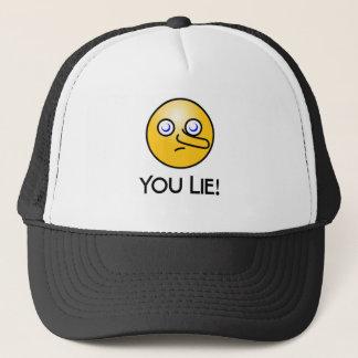 Du ljuger Emoticonhatten Truckerkeps