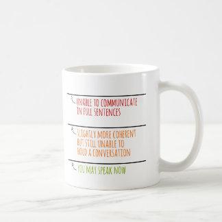 Du maj talar nu påfyllningslinjer kaffemugg