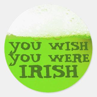Du önskar att du var den irländska gröna runt klistermärke