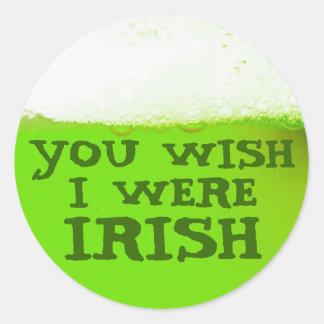 Du önskar att jag var den irländska gröna runt klistermärke