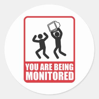 Du övervakas runt klistermärke