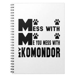 Du rörar med min Komondor Anteckningsbok