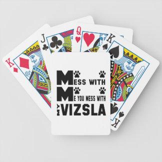 Du rörar med min Vizsla Spelkort