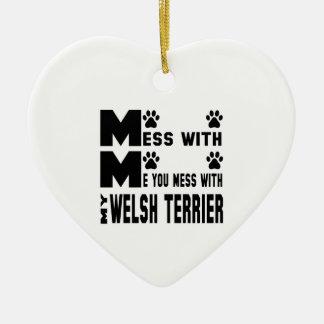 Du rörar med min walesiska Terrier Julgransprydnad Keramik