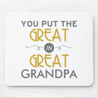Du satte underbaren i underbar morfar musmatta