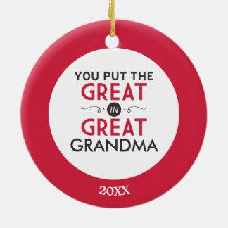 Du satte underbaren i underbar mormor julgransprydnad keramik