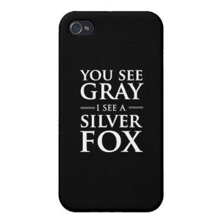 Du ser grått, mig ser ett silver lura iPhone 4 cases