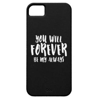 Du ska för evigt är mitt alltid mobiltelefonfodral iPhone 5 Case-Mate fodral