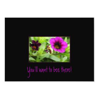 Du ska önskar till biet där! 12,7 x 17,8 cm inbjudningskort